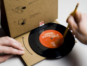Paper record player