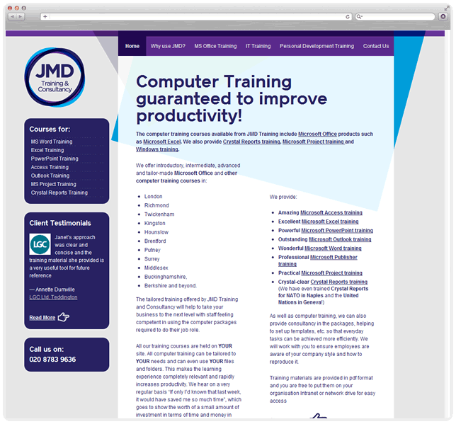JMD Training screenshot