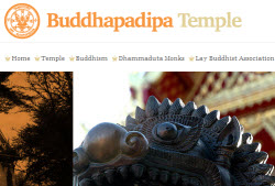 New Buddhapadipa Temple website homepage