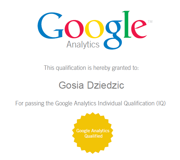 Google Analytics IQ