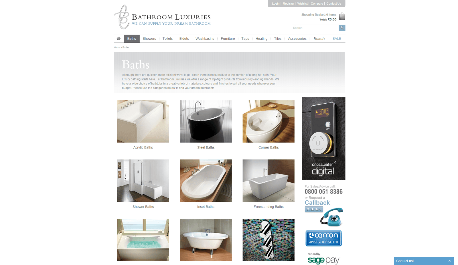 Ecommerce consultancy for Bathroom Luxuries