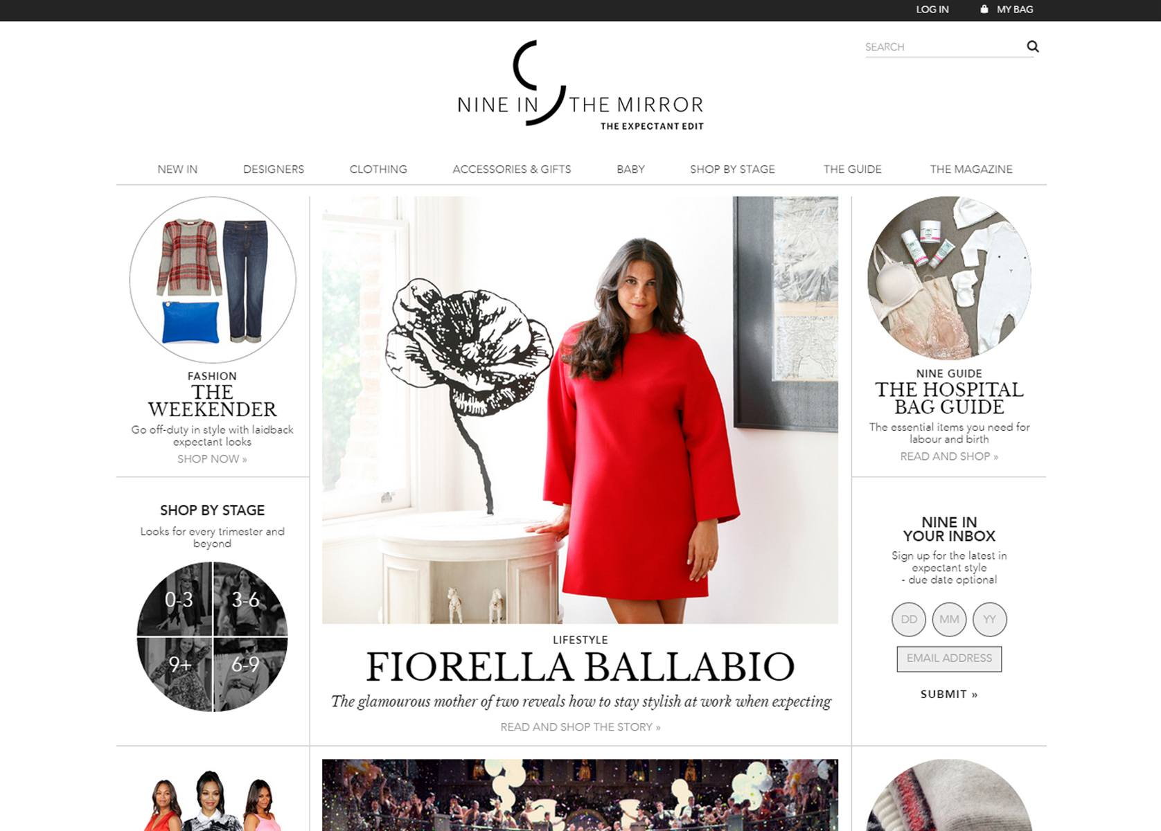 NINE IN THE MIRRORS beautiful Magento design