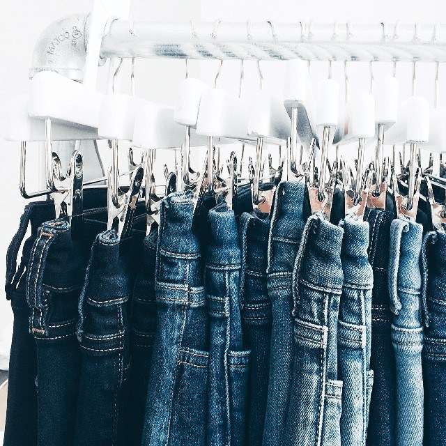 MiH Jeans on a hanger