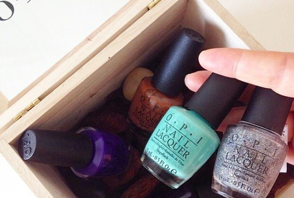 OPI nail laquer in a box