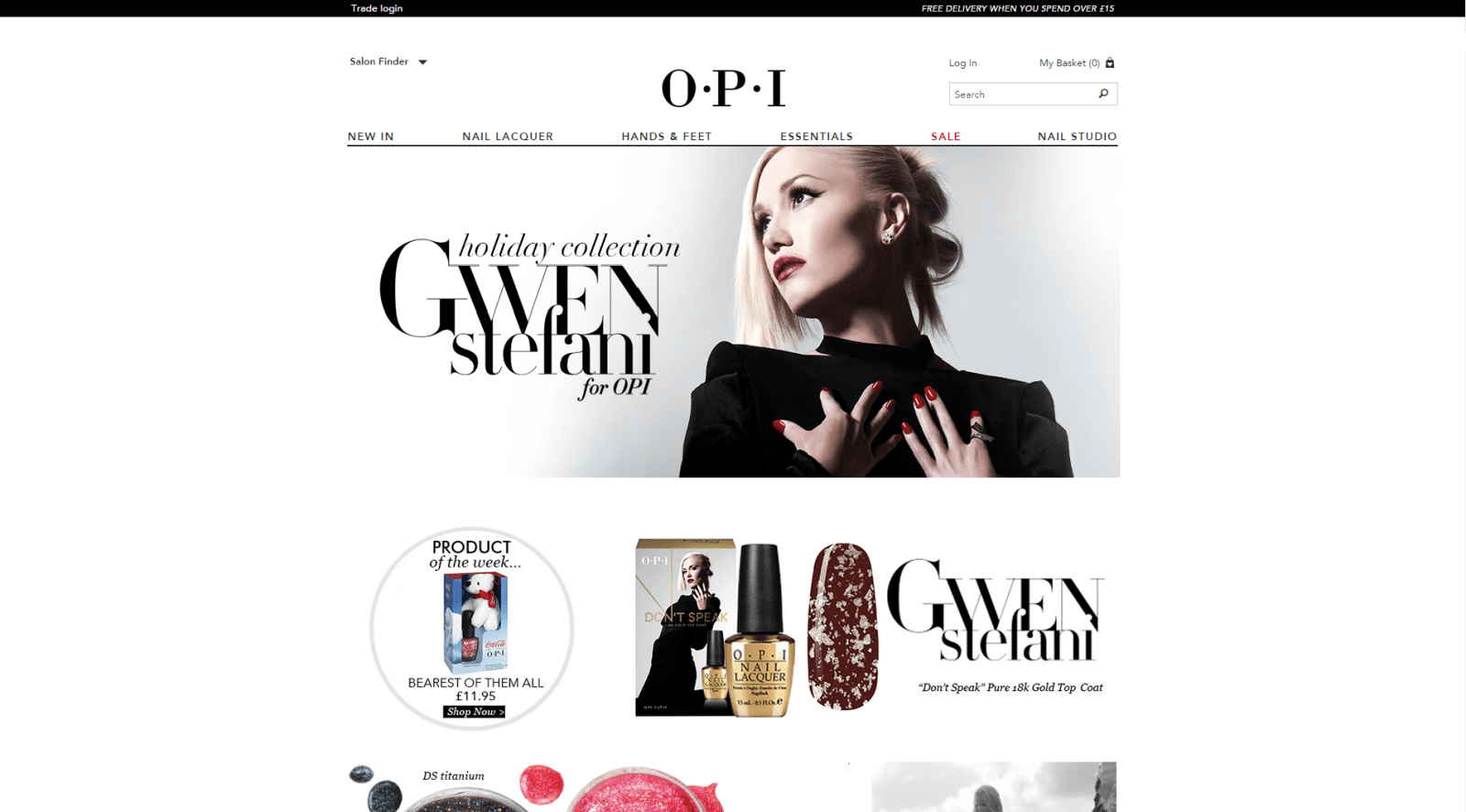 Website design for OPI