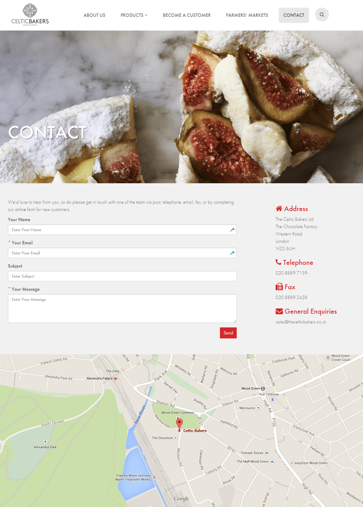 The Celtic Bakers website