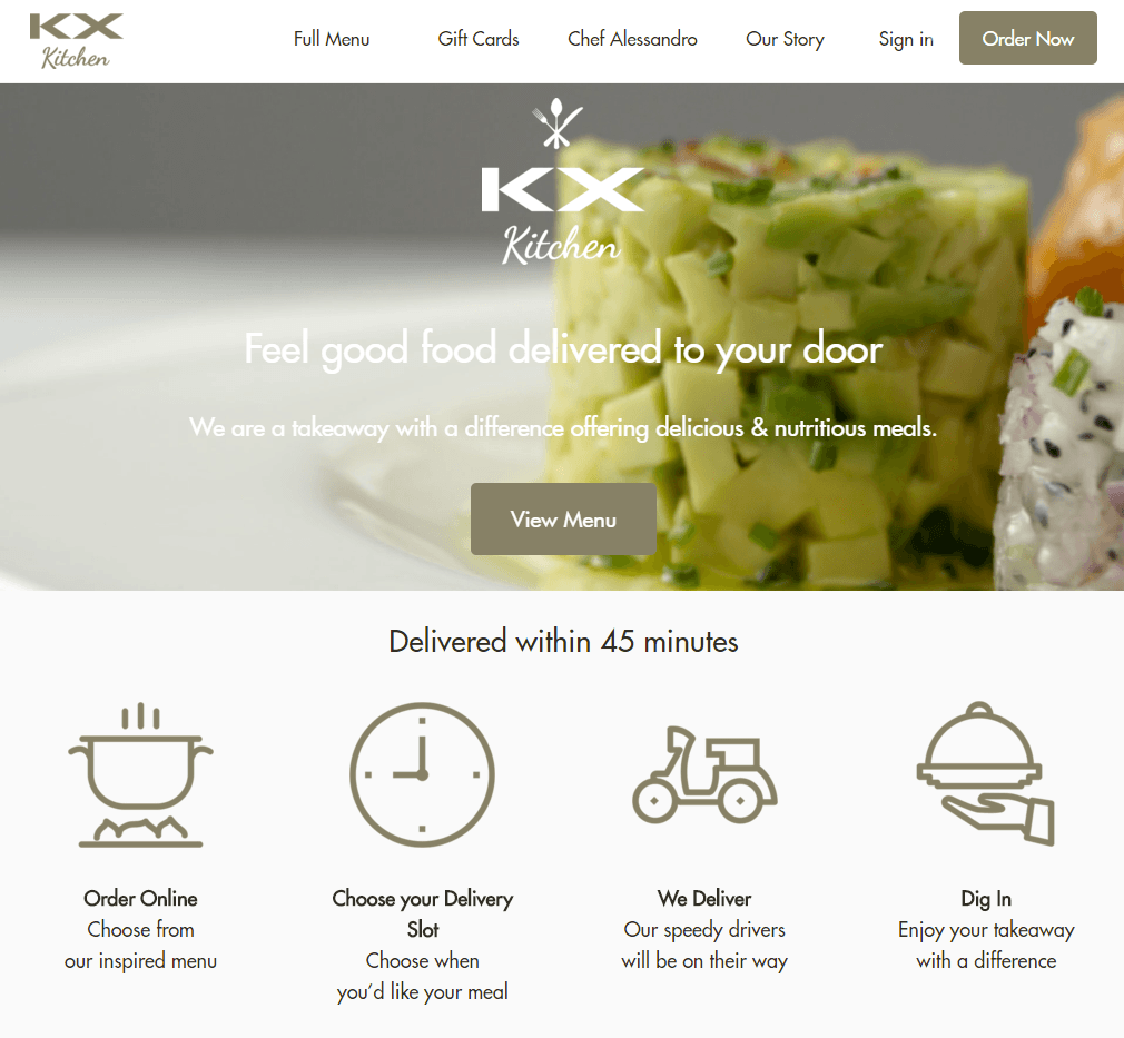 KX Kitchen Home Delivery